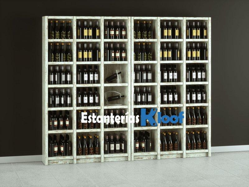Estanterías para bodegas | Botelleros de madera para vinos